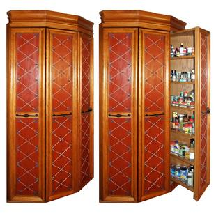 Pantry Corner Cabinet With Peter Kramer, Custom Furniture Maker With Wood  Pantry Cabinets With Building